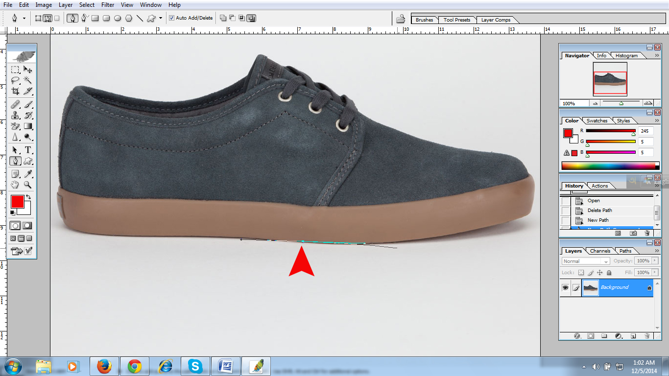 Clipping path tutorial image