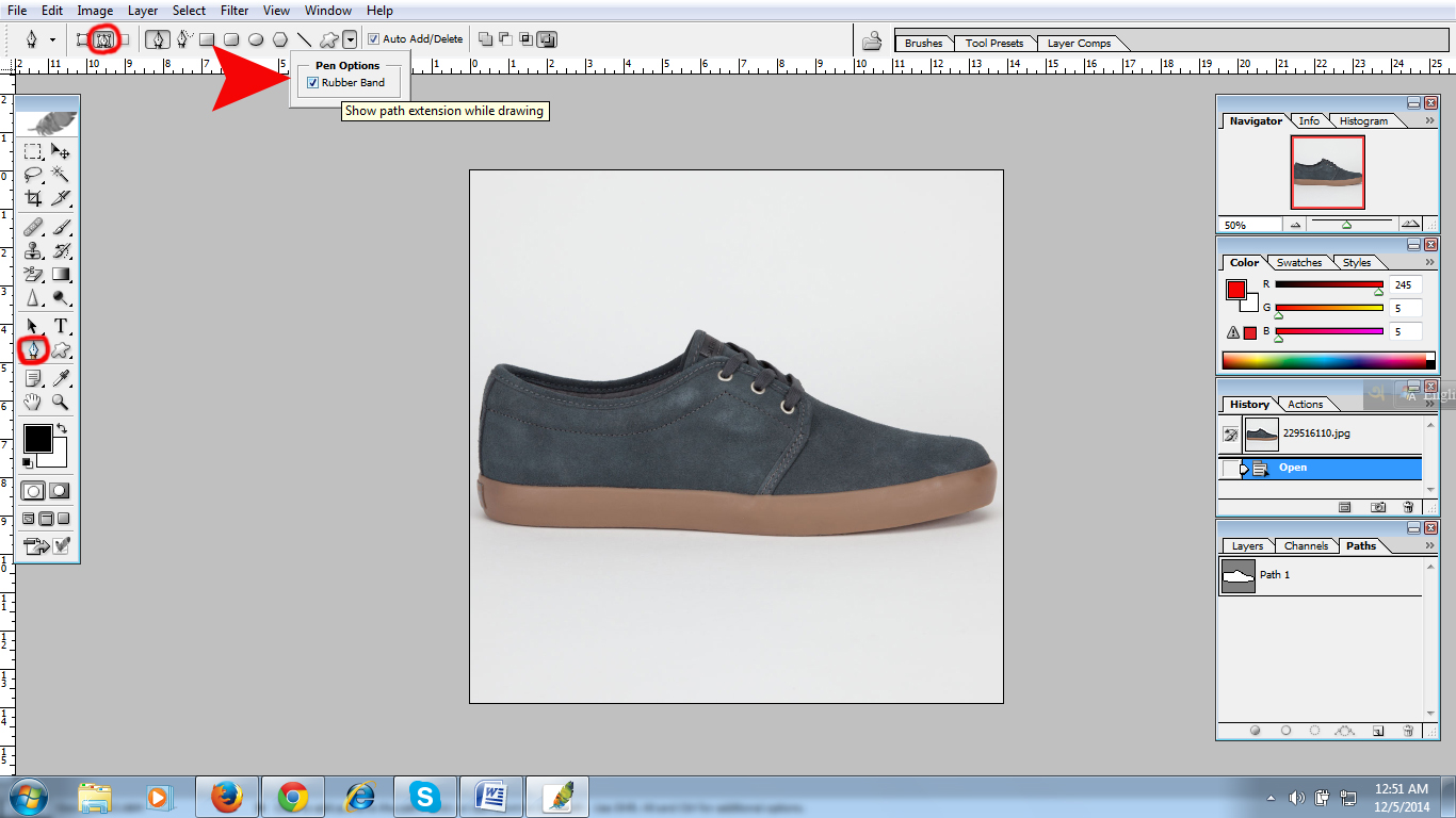 Clipping path image